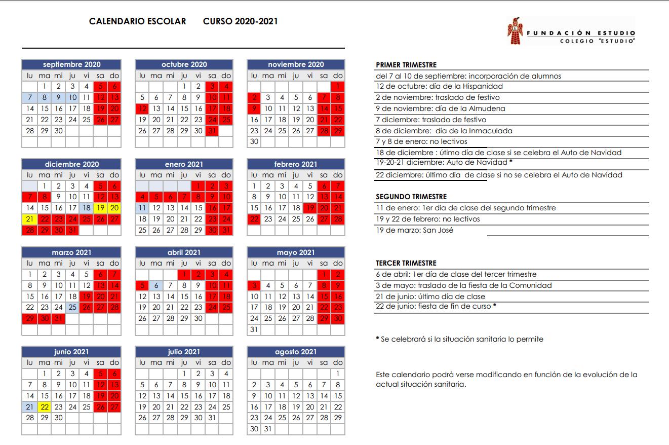 Calendario Factoría